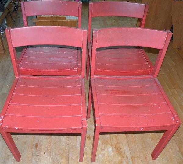 Thonet-stoelen, 4 stuks.