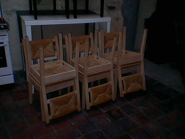 Riet stoelen