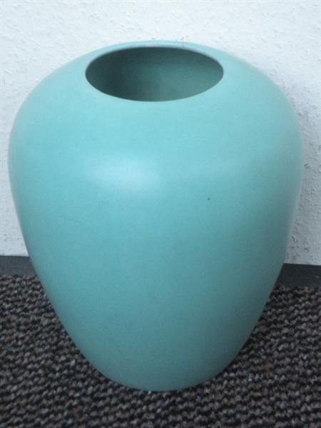 Grote vaas, blauwgroen.