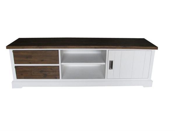Landelijke meubels, TV kast acaciahout wit bruin