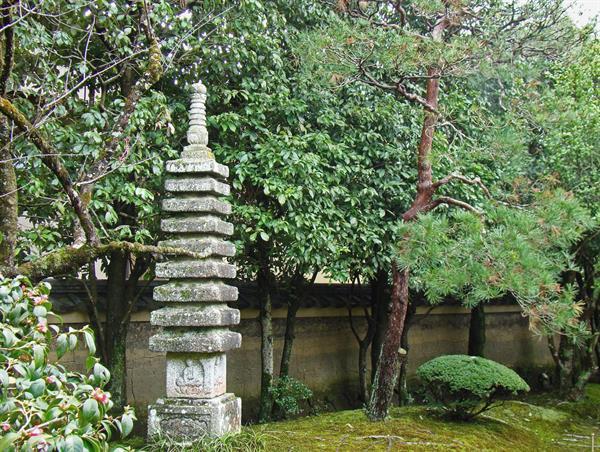 Japanse stenen en granieten pagodas